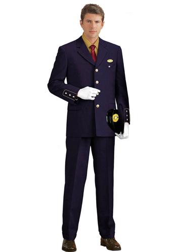 蓝色翻领制服