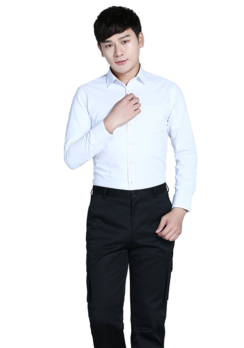 纯棉白色衬衫