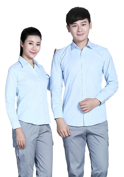 男士蓝色条纹衬衫
