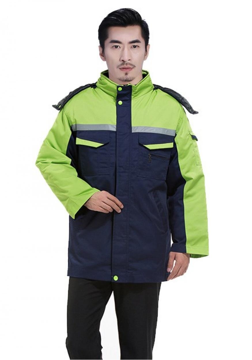 深蓝色YLLK依兰琳卡工作服棉服003