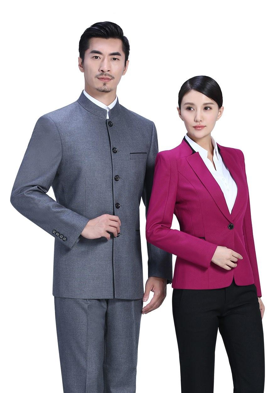 中灰色休闲中华立领FX10