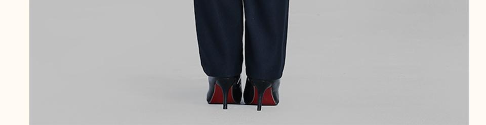 深蓝色修身女士职业装FX09