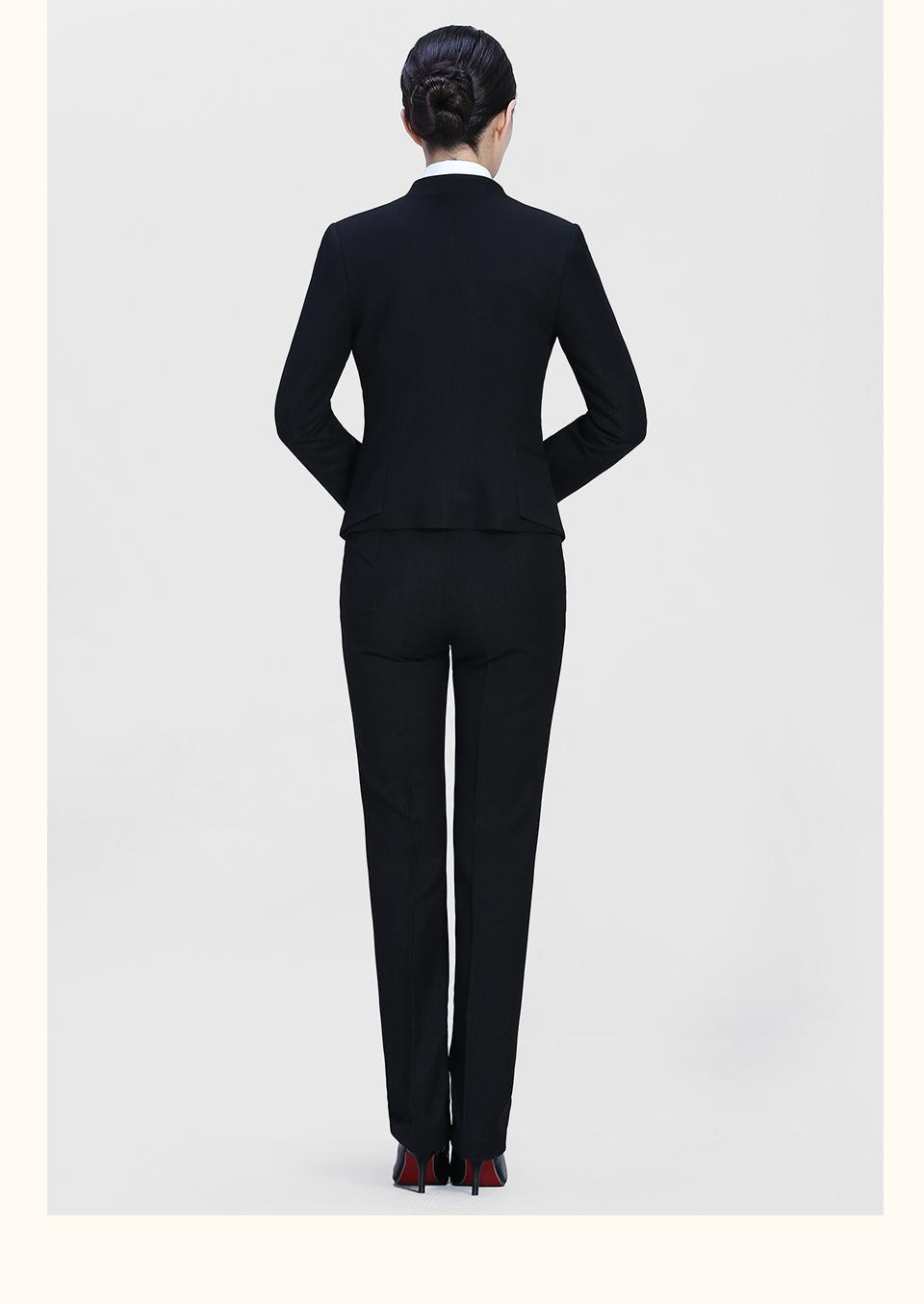 新款黑色女士修身职业装